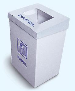 Cajas de carton para reciclar papel